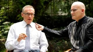 Foreign Minister Bob Carr Interviewed By Andrew Biggs In Thailand