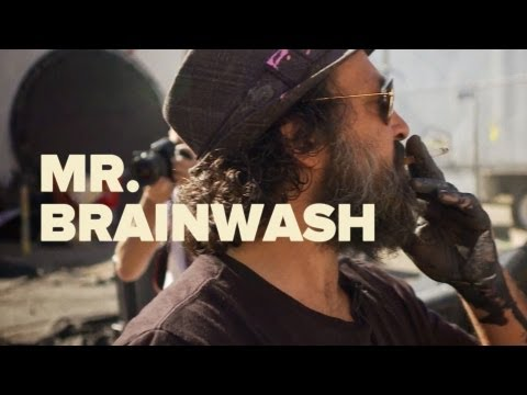 brainwash - Watch street artist, Thierry Guetta aka Mr. Brainwash share his story and his creative journey as he takes over an abandoned industrial warehouse space in th...