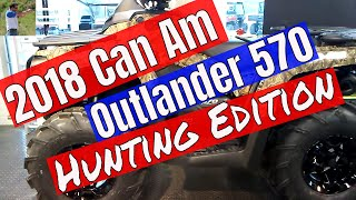 9. 2018 Can Am Outlander 570 Hunting Edition