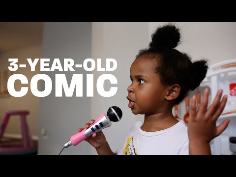 3-year-old Tries Stand-Up Comedy