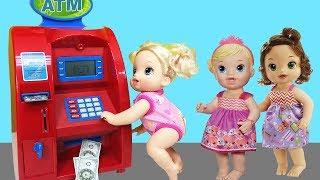 Video Baby Alive Oyuncak Bebek ATM'den Para Çekiyor | Oyuncak Para Çekme Makinesi | EvcilikTV MP3, 3GP, MP4, WEBM, AVI, FLV November 2017