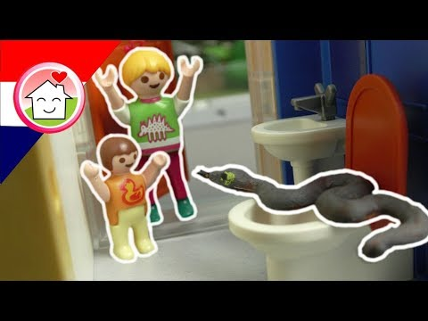 Playmobil filmpje Nederlands Slang op het toilet!?! - Familie Huizer