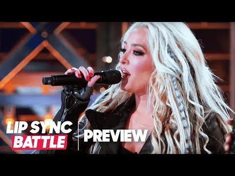 "Christina Aguilera Watches Erika Jayne Crush ""Fighter"" | Lip Sync Battle"