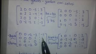 Eliminasi gauss-jordan, aljabar linier, system persamaan linier, diagonalisasi matriks Video