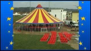 Zeltaufbau Circus Soluna kurz