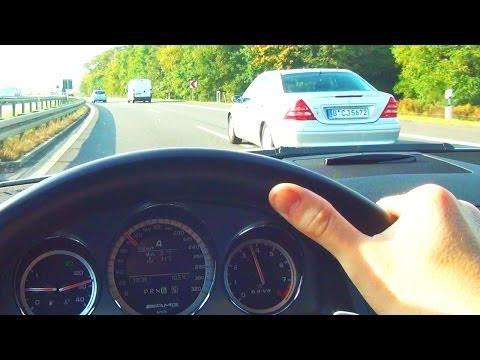Mercedes C63 AMG kickdown