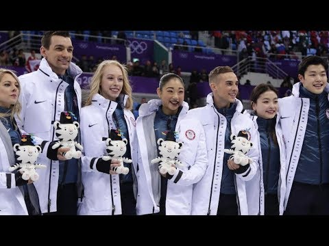 US figure skaters steal the show at Winter Olympics (видео)