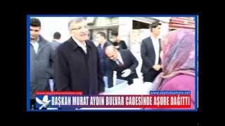 Başkan Murat Aydın Bulvar Cadesinde Aşure Dağıttı
