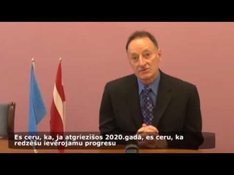 """Videorelīze: Lietuvas Republikas veselības ministrs Vytenis Povilas Andriukaitis un  Pasaules Bankas vecākais padomnieks Charles Griffin par konferenci """"Veselība izaugsmei"""""""