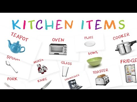 Learn Kitchen Item Names For Kids | Kids Learn About Kitchen Tools