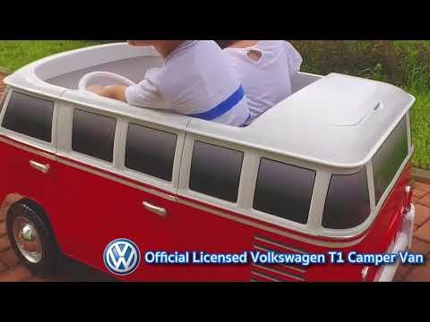 Retro volkswagen t1 camper van ride on for kids thecheapjerseys Choice Image