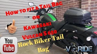 5. Motorcycle tail bag | How to install (Kawasaki Vulcan S), Rock Biker tail bag