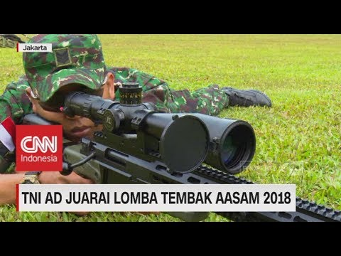 One Shot Two Kill! TNI AD Juara Lomba Tembak AASAM 2018