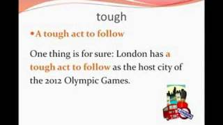 Olympic Games Vocabulary, Advanced English 1b