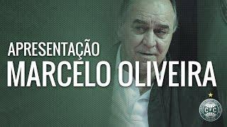 O técnico do Coritiba Marcelo Oliveira teve sua apresentação hoje (25/07) no CT Bayard Osna. Foi a primeira coletiva do treinador, que pode conhecer todos os atletas, reencontrar amigos e iniciar sua nova jornada no Coxa.