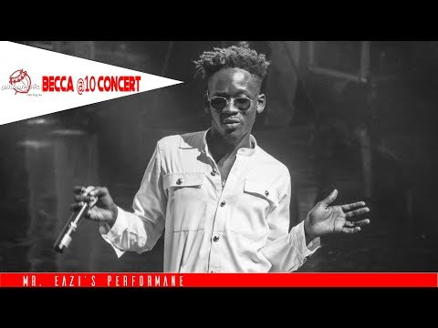 "Mr  Eazi's tells Becca she's His ""Number 1"" at Becca @ 10 Unveiling Concert"