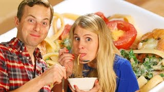 Ned And His Wife Make One-Pot Garlic Butter Pasta by Tasty