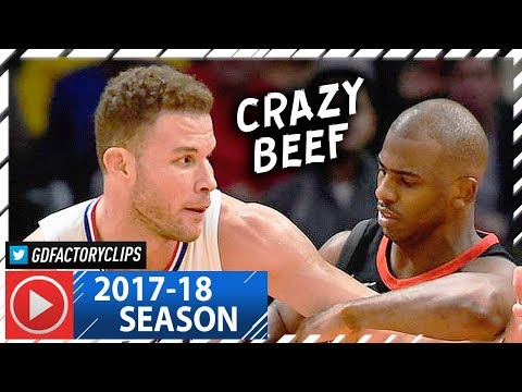 Chris Paul vs Blake Griffin CRAZY Duel Highlights (2018.01.15) Clippers vs Rockets - CP3 Returns! (видео)