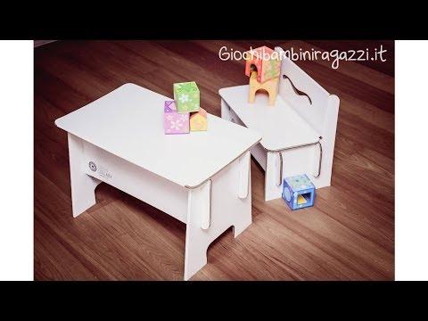 Tavolo per bambini con panca per disegnare: tiene 140KG