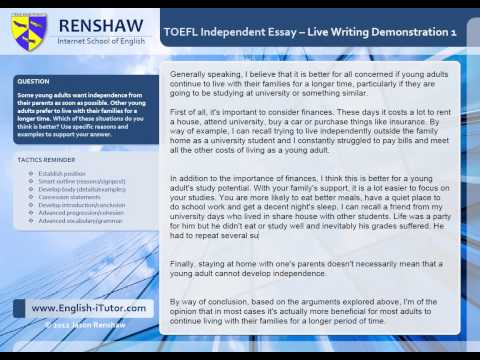 toefl essay full score Toefl writing test structure, scoring and tips are explained here in  structuring essay for the toefl  if your aim is to score high in the toefl.