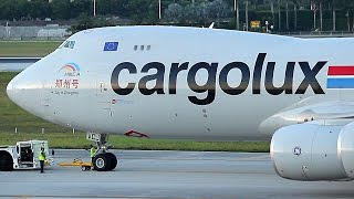Video {TrueSound}™ Cargolux Boeing 747-8F Startup + Takeoff from Miami! Close-Up with Awesome GEnx! MP3, 3GP, MP4, WEBM, AVI, FLV Juni 2018