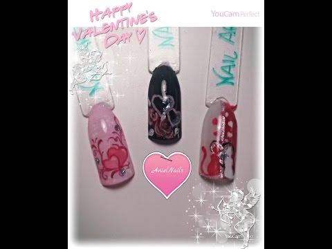 nail art - ispirazione san valentino