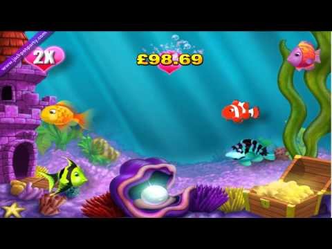 £173.20 SUPER BIG WIN ON GOLD FISH™ ONLINE SLOT GAME AT JACKPOT PARTY®