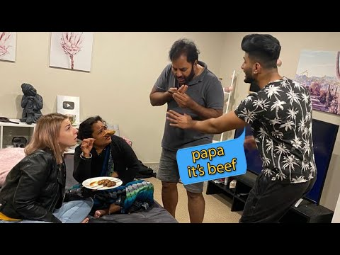 Feeding Beef To My Indian Parents PRANK *Don't ever do this.*