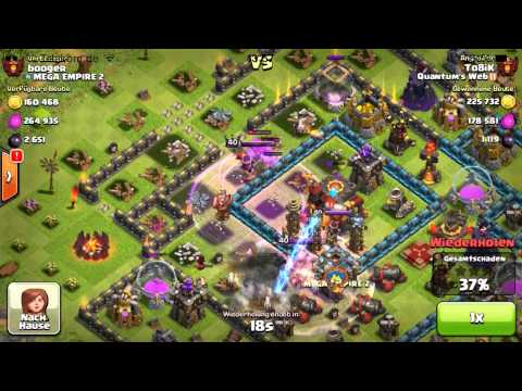 [GERMAN] Clash of Clans – epic fail / lose + win against the same layouts