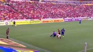 Melhores momentos: Flamengo 3 x 0 Cruzeiro pela 28ª rodada do Brasileirão 2014 Dedé faz gol contra, e Canteros e Gabriel...