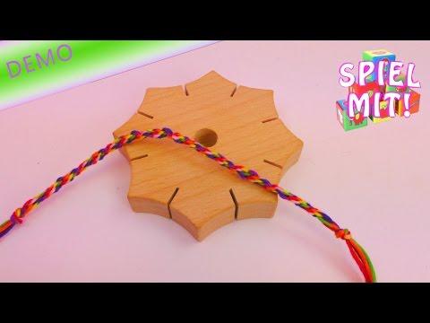 Knüpfstern aus Holz / Braid Star / Armbänder ganz leicht flechten / Anleitung How To | deutsch
