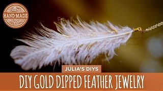DIY Gold Dipped Feather Jewelry - HGTV Handmade - YouTube