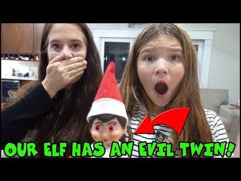Our Elf On The Shelf Has An EVIL TWIN! Smellie Darkle
