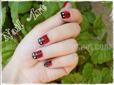 ღ Diseño de uñas: Mariquitas