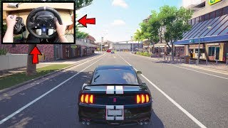 Forza Horizon 3 Driving Like A BOSS (Steering Wheel + Shifter) Shelby Mustang GT350R No HUD Gameplay