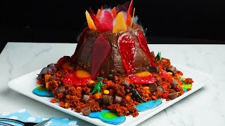 A Show-Stopping Volcano Cake That Will Shock Your Family • Tasty by Tasty