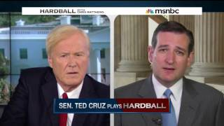 Ted Cruz Plays Hardball with Chris Matthews