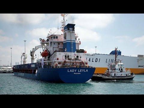 Κατέπλευσε το τουρκικό πλοίο με ανθρωπιστική βοήθεια για την Γάζα