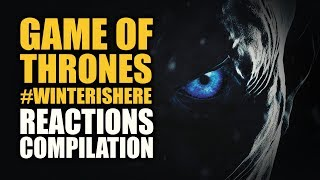 """Winter is here in 3 weeks. A compilation of great reactions from some of your favorite fans and reactors for the #WinterIsHere trailer of The Game of Thrones Season 7. """"When the snows fall and the white winds blow, the lone wolf dies but the pack survives."""" Game of Thrones Season 7 premieres this July 16.Learn more at http://www.gameofthrones.comHere is a link to HBO's trailer:https://www.youtube.com/watch?v=1Mlhnt0jMlgHere are some awesome people that made the compilation possible, please visit and subscribe to their channel:SwagFoulNation - https://youtu.be/Gd-vgz64K9sColliderVideos - https://youtu.be/j2ToFYQYnrsKatie Wilson - https://youtu.be/Vyy0rqu5_J8Jimmy Macram - https://youtu.be/RH9kL6fwldUBlind Wave - https://youtu.be/KpMQqxs7NwgTorchwood Boy - https://youtu.be/46JhHGkNkEcLM Reactions - https://youtu.be/6zbUTb_0zFMJaby - https://youtu.be/h4E2dv2zNFwMareckProductions - https://youtu.be/WsKKwU16VEoThe Atomic Dom - https://youtu.be/F6jtwzORfvsbridge4 - https://youtu.be/E0OUb978vXQFILMBuFF - https://youtu.be/sV1YND2QvbMGeek House - https://youtu.be/hgiKksi0ZZgHarley Queen - https://youtu.be/b47qxfvvVF8Devon Wikstrom - https://youtu.be/slK34PvLAi4Flick Freaks - https://youtu.be/p3DxcacdY7gLiam Catterson - https://youtu.be/7nqXIth5LacMaria Rodriguez - https://youtu.be/a23jLmHwLGUDon The Kraken Witt - https://youtu.be/emUTwNJUgT0aabbieReacts - https://youtu.be/8via-qTs9vETinker Jaso - https://youtu.be/Ty__LoYmBhgLarissa Zeeuwe - https://youtu.be/euC6x9jP1psTheTrophyMunchers - https://youtu.be/_dB9TpY0hDQBrokeBlackMan 94 - https://youtu.be/xxcAh4vmklYSgtRocko - https://youtu.be/HtDljCmA1PQJor-Els Alexandria - https://youtu.be/MgwxS74lI24Feuerhexe - https://youtu.be/-QKn7kg_qtkJose G. Alvarez - https://youtu.be/qgTnCPD0sUI13vocals - https://youtu.be/CIkY45E7p68SAMIR DZ REACTION - https://youtu.be/XN1GZOJtLbwErin Sigal - https://youtu.be/ut6rCt5d5m8owbln82 - https://youtu.be/L8k3lMduDXcThe Reel Rejects - https://youtu.be/wFEHQKmHnVoMarried2TheReal - https://youtu.be"""