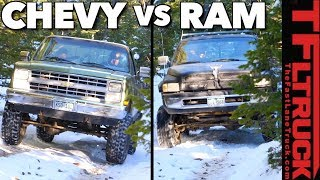 Big Green vs Dodgezilla vs Snowy a Gold Mine Hill Rematch by The Fast Lane Truck