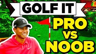 Golf It! - PRO PLAYERS vs NOOB MAP! THE TIGER WOODS OF GOLF IT? (Multiplayer Gameplay / Let's Play)