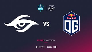 Team Secret vs OG, ESL One Katowice 2019, bo2, game 1[Lex & 4ce]