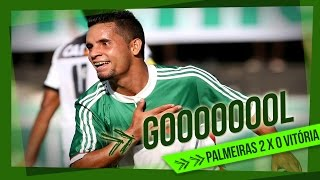 O Palmeiras venceu o Vitória da Bahia por 2 x 0 e se classificou para as semifinais da Copa São Paulo 2015. Gols de Gabriel Jesus e Cristopher. ----- Seja Só...