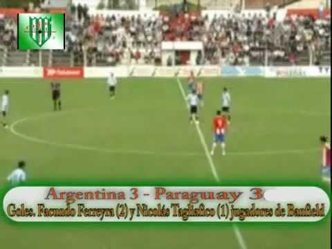 Gol de Facundo Ferreyra frente a Paraguay (Sub-20)