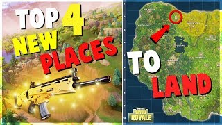 TOP 4 UNKNOWN NEW Places to Land for EASY WINS | Fortnite Battle Royale Tips and Tricks