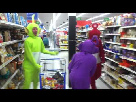 Teletubbies out of control in Walmart