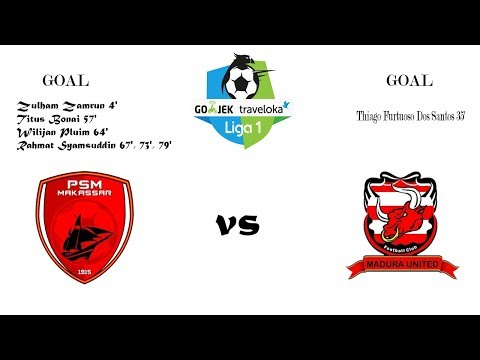 PSM Makassar VS MADURA United (6-1) FULL Highlights and Goals Liga 1 - 12 November 2017
