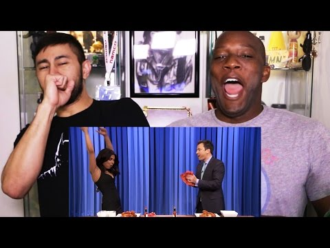 Download PRIYANKA & JIMMY FALLON wing-eating contest reaction w/Syntell! HD Mp4 3GP Video and MP3