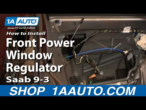 How To Install Replace Front Power Window Regulator Saab 9-3 03-11 1AAuto.com