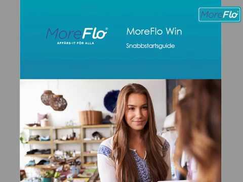 Uppstartshjälp för MoreFlo Kassa för Windows